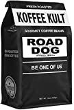 "Dark Roast, Whole Bean Colombian Coffee - Koffee Kult's Award-Winning ""Road Dog"" Blend - 16 oz Full Body Arabica Coffee Beans - Rich, Sweet, Cocoa Finish - Fresh Roasted and Hand-Crafted by Artisans"