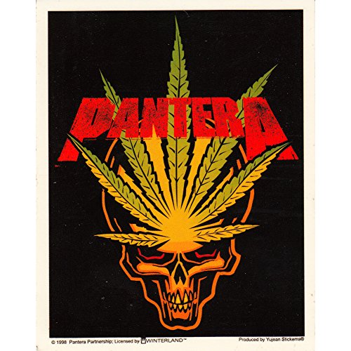 Pantera Pot Leaf Skull Logo Sticker
