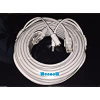 Wennow Gray 50ft Cat5E Network Ethernet LAN Video/Power Cable for CCTV IP Camera and wifi router