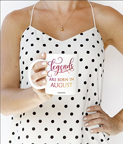 Legends Are Born In August Coffee Mug, August Birthday Gift, Birth Month Gift, Gift for Women, Funny Gift Idea for Her, Birthday, Diva -