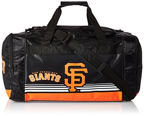 MLB San Francisco Giants Striped Core Duffle Bag, Medium, (Mlb Medium Gift Bag)
