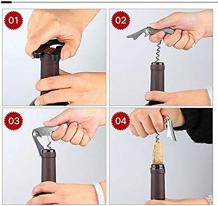 Sacacorchos para botella de vino y juego de accesorios para vino, juego de herramientas en forma de botella, perfecto abrebotellas de regalo