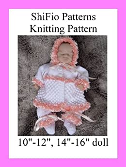 Emmy Doll Knitting Pattern : Knitting Pattern - KP141 - preemie or doll matinee jacket ...