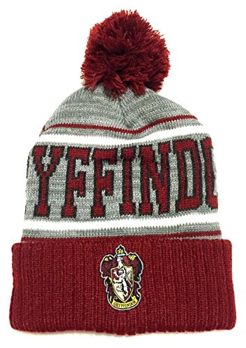 Harry Potter Gryffindor Striped Cuff Pom Beanie
