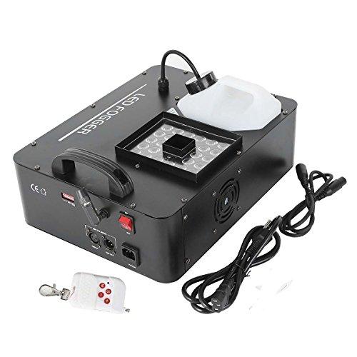 [TC-Home 2000W 24 LED RGB 3in1 Party Fog Machine DMX DJ Stage Show Smoke Wireless Remote] (Party Fog Machine)