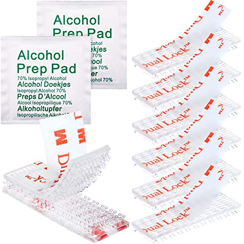 20 Pieces Adhesive Strips Tag Tape Mounting Kit with 10 Pieces Alcohol Prep Pads for EZ Pass, I-Pass, Office, Home, Shop Supplies