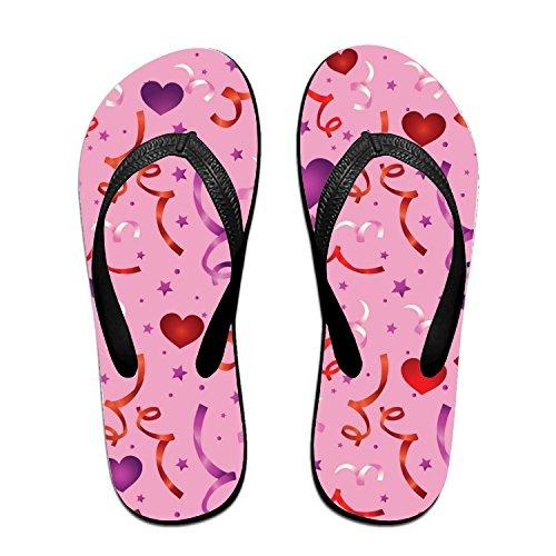 - Hitecera Love Confetti Flip Flops Funny Sandy Flat Thong Sandals Slipper Mat for Men Women