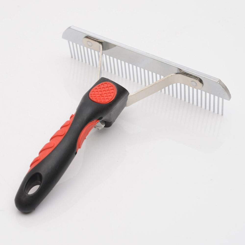 ZZSSBCKT Pet Comb, Dog Grooming Rake- Anti-Static, Safe and Durable- Does Not Hurt The Skin- Suitable for Long Hair Thick Large Dogs, Such As Golden Retriever, Tibetan Mastiff, Satsuma
