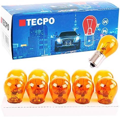 Tecpo 10x Blinker Birne Py21w 12v 21w Kugellampe Ba15s Blinkerbirnen Autolampe Auto