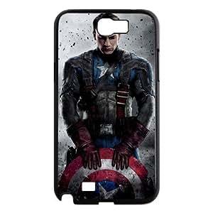 jany store123 store Custom Superhero-Captain America black plastic Case for Samsung Galaxy Note 2 N7100 cover