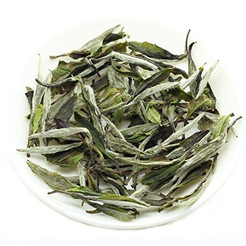 Lida - Organic White Peony Tea - Bai Mu Dan - Better Quality Loose Leaf White Tea From Fuding China (2018yr, 100g / 3.5oz) ()