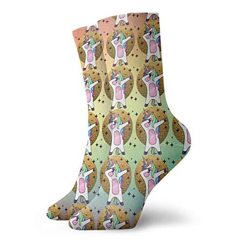 SARA NELL Novelty Funny Crazy Crew Sock Fantasy Dabbing Horse Unicorn Flat Style 3D Printed Sport Athletic Socks 30cm Long Personalized Gift Socks -