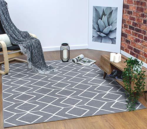 Antep Rugs Kashan King Collection Trellis Polypropylene Indoor Area Rug (Grey/Cream, 8' x - Polypropylene Rug Cleaning