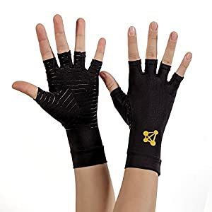 CopperJoint Arthritis Gloves #1 Copper Infused Compression - GUARANTEED To Speed Up Recovery & Relieve Symptoms of Arthritis, RSI, Carpal Tunnel, Tendonitis & More - Men & Women - 1 Pair - Small