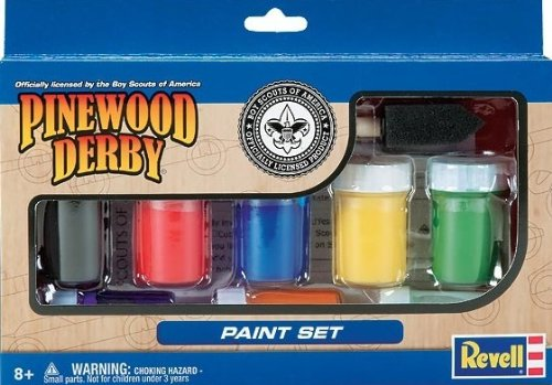 Revell Pinewood Derby Paint Set (Pinewood Derby Car Paint)