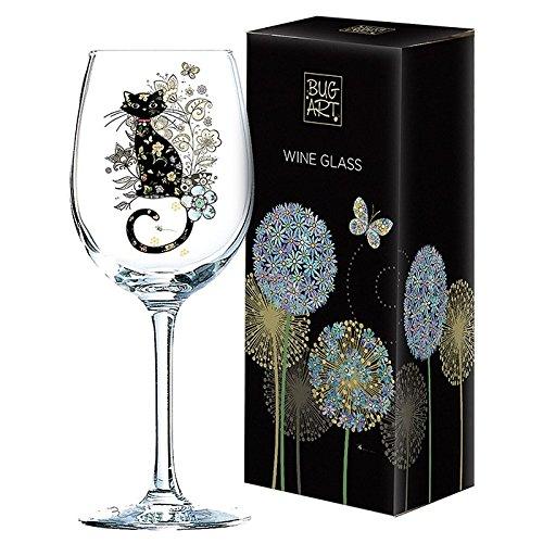 Gorgeous Cat Design Wine Glass Gift New Boxed Joe Davies