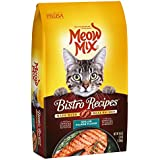 Meow Mix Bistro Recipes Grilled Salmon Flavor Dry Cat Food, 3 lb (Pack of 4)