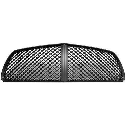 Grille Compatible With 2011-2014 Dodge Charger | B Style ABS Black Front Bumper Hood Grill by IKON MOTORSPORTS | 2012 - Charger Dodge Grille