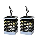 Afuly Solar Lantern Outdoor Candle Lights Hanging with Clip Waterproof Dusk to Dawn Umbrella Lanterns for Camping Garden Patio Pool Tree, 2 Pack