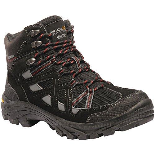 Regatta Mens Burrell II Waterproof Seam Sealed Nubuck Walking Boots Black/Granit