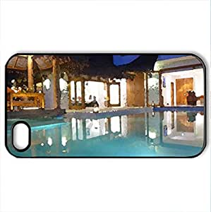 Beautiful Place For Relax - Case Cover for iPhone 4 and 4s (Modern Series, Watercolor style, Black) by icecream design