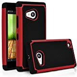 Nokia Lumia 730 Case, Nokia Lumia 735 Case, MagicMobile [Dual Armor Series] Durable [Impact Shockproof Resistant] Double Cover [Hard Shell] + [Flexible Silicone] Case for Nokia Lumia 730 / 635 - Red