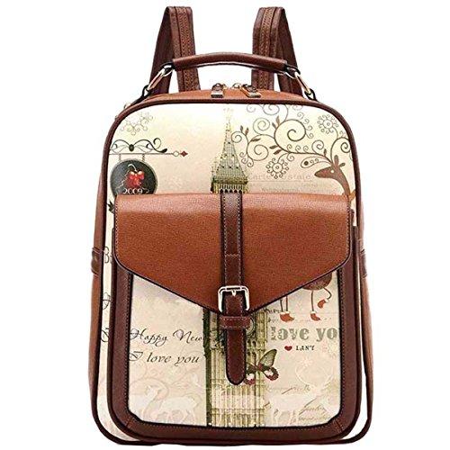 Mossimo Black Belt (Hanshu Graffiti Vintage Travel Casual Shoulder Backpack Bookbag School Bag,)