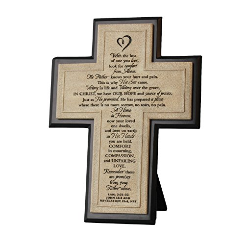 Inspirational Cross (Lighthouse Christian Products Cast Stone Remember Wall/Desktop Cross, 7 1/4 x 10