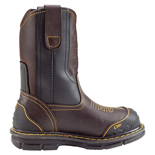 "Cebu Mens Farmer 10"" Arbete Boot Brown"