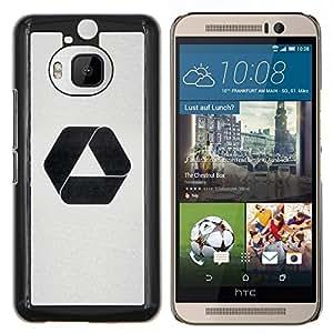 EJOOY---Cubierta de la caja de protección para la piel dura ** HTC One M9Plus M9+ M9 Plus ** --Hexágono Triángulo