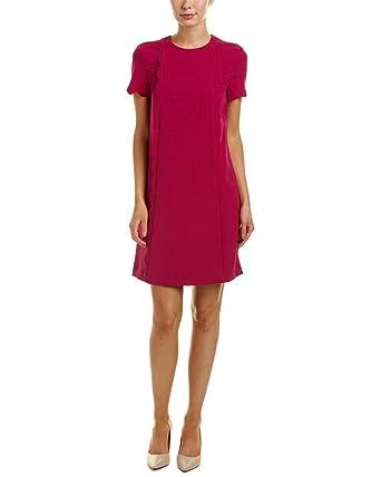 146f64b8f226 Tahari by ASL Women's Scallop Detail Shift Dress Magenta 6 at Amazon ...