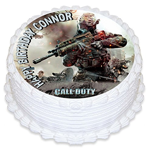 Call of Duty WWll Cake Topper Personalized Birthday 8