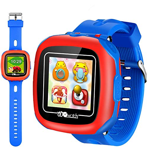 "Kids Smart Watches with Games, 1.5"" Touch Children Tracker Pedometer Step Count Wristwatch Digital Timer Alarm Stop Sports Clock Health Monitor Outdoor Birthday Gifts for Boy Girl (Blue)"