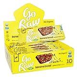 Go Raw Organic Banana Bread Flax Bar 10 Bars 12 g Each
