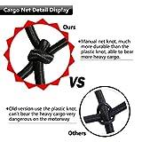 "EZYKOO Cargo Nets 47"" x 36"",6mm Premium Bungee Cord Net,3"" x 3"" Grid Mesh Cargo Net,Auto Roof Tie-Down Net with 14 Hooks"