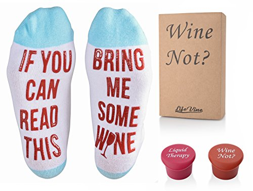 Luxury If You Can Read This Bring Me Some Wine Socks Stoppers Gift Box Stocking Stuffer Christmas