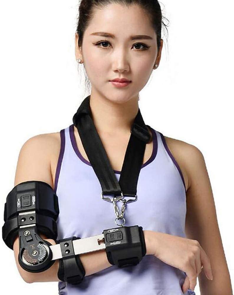 ヒンジ付きエルボーブレース、スリング付き、調整可能なエルボースプリントブレースアームイモビライザー、術後腕損傷回復用エルボスリングショルダーイモビライザー,Right