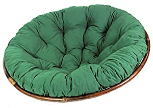 Seat Cushion For Papasan Chair Replacement Cushion D 120 Cm Dark Green Ama