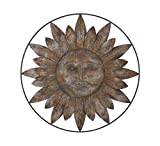 Deco 79 93707 Metal Sun Face Wall Decor 30″ D – For Sale