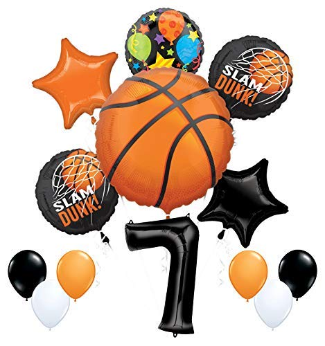 Mayflower Products バスケットボール 7歳の誕生日パーティー用品 ナッシングバットネットバルーンブーケデコレーション   B07P97BB1B