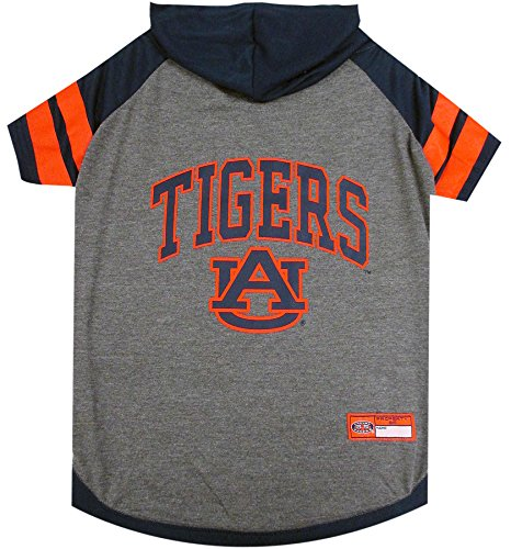 NCAA Auburn Tigers Hoodie for Dogs & Cats, Small. | Collegiate Licensed Dog Hoody Tee Shirt | Sports Hoody T-Shirt for Pets | College Sporty Dog Hoodie Shirt.
