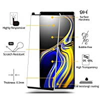 iAnder [2-Pack] Galaxy Note 9 Screen Protector - 3D Curved [Tempered Glass] Screen Protector with [Frame Easy Installation Tray] for Galaxy Note 9 [Case Friendly] by iAnder