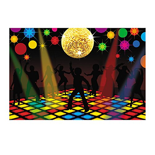 Fun Express - Disco Party Backdrop Banner (3pc) - Party Decor - Wall Decor - Preprinted Backdrops - 3 -