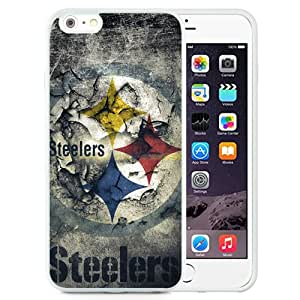 Unique Iphone 6 Plus Case Design with Pittsburgh Steelers iphone 6 Plus 5.5 Inch White TPU Case