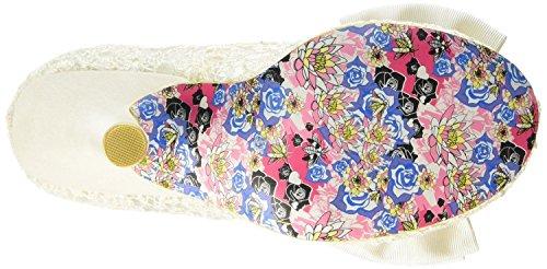 Irregular Choice Mal E Bow Crema Oro Donna Hi Heels Scarpe