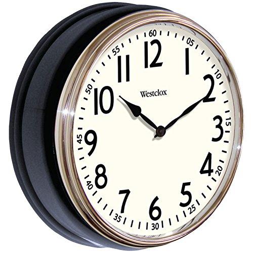 Westclox 32041AB Round Vintage Kitchen Classic Clock, 12-Inch, Black