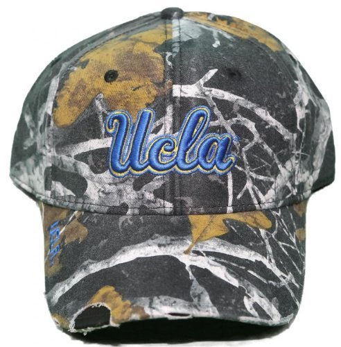 NEW! California Bruins Adjustable Back Hat Pre-Distressed Hat Embroidered Camo Cap