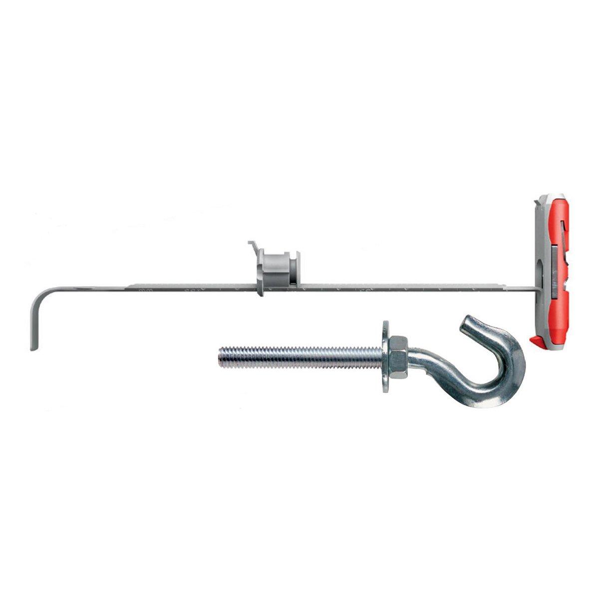 Fischer Plasterboard Fixings 544598Duotec 12with M6Hook, Grey