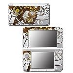 Retro Steampunk Time Machine Pocket Watch Art Video Game Vinyl Decal Skin Sticker Cover for Original Nintendo 3DS XL System 5