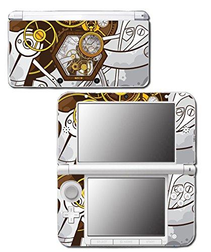 Retro Steampunk Time Machine Pocket Watch Art Video Game Vinyl Decal Skin Sticker Cover for Original Nintendo 3DS XL System 3
